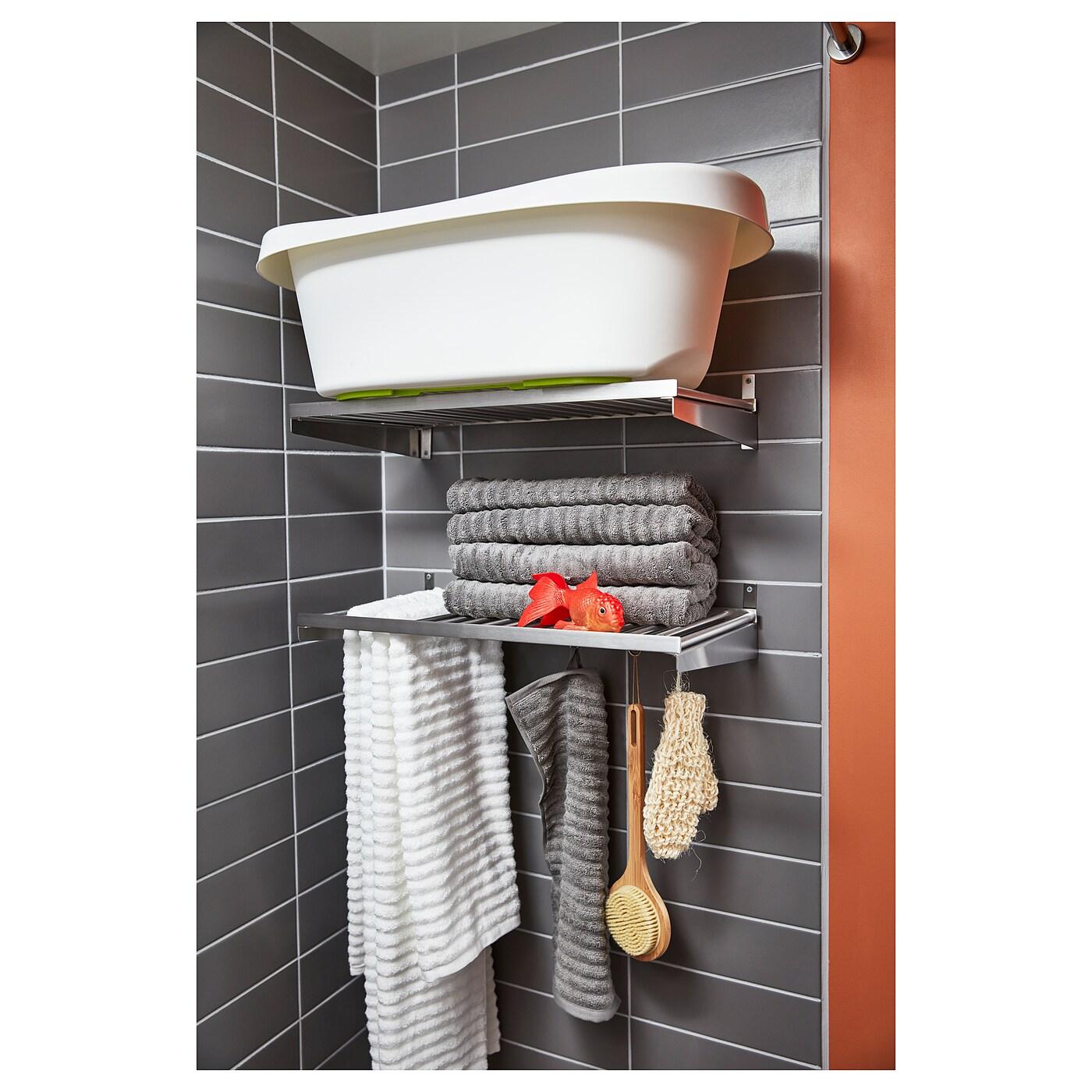 KUNGSFORS Shelf, stainless steel, 60 cm