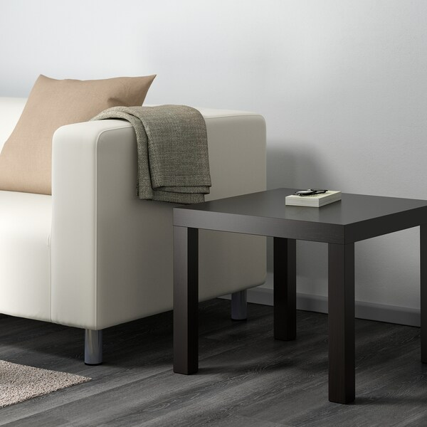 LACK Side table, black-brown, 55x55 cm