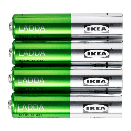 LADDA Rechargeable battery   The battery is ready to use.