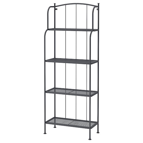 LÄCKÖ shelving unit, outdoor grey 61 cm 32 cm 160 cm 24 kg