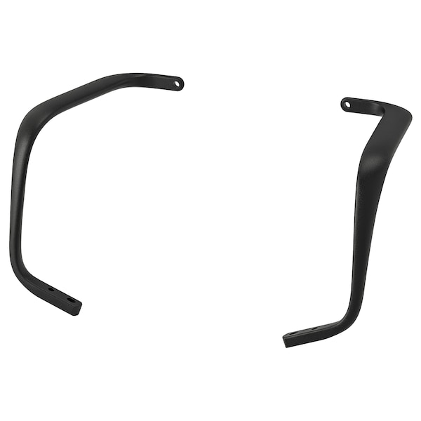 LÅNGFJÄLL Pair of armrests, black