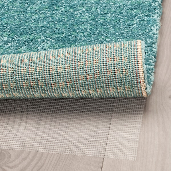 LANGSTED Rug, low pile, turquoise, 133x195 cm