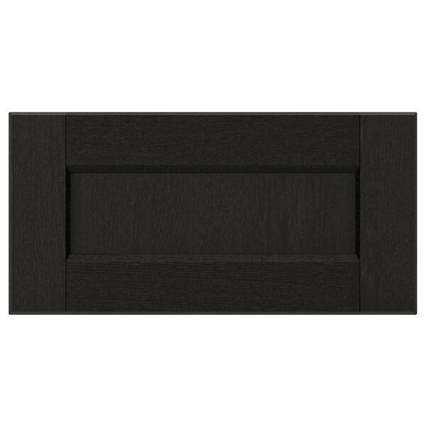 LERHYTTAN Drawer front, black stained, 40x20 cm
