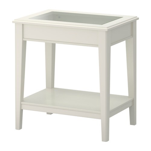 LIATORP Side table   Separate shelf for magazines, etc.   helps you keep your things organised and the table top clear.