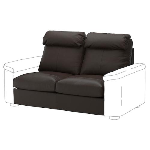 LIDHULT 2-seat section Grann/Bomstad dark brown 95 cm 74 cm 141 cm 98 cm 7 cm 141 cm 58 cm 42 cm