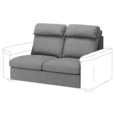 LIDHULT 2-seat sofa-bed section, Lejde grey/black