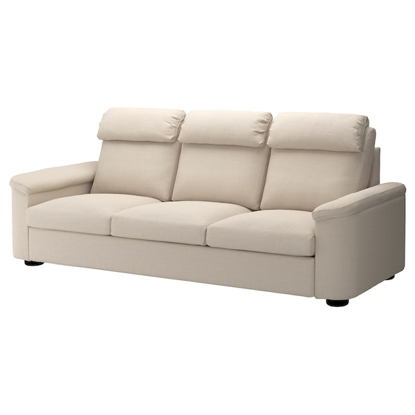 LIDHULT 3-seat sofa, Gassebol light beige