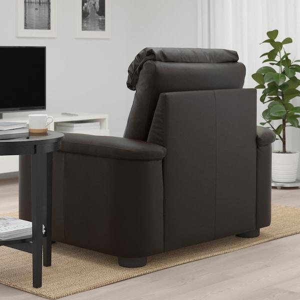 LIDHULT كرسي بذراعين, Grann/Bomstad بني غامق