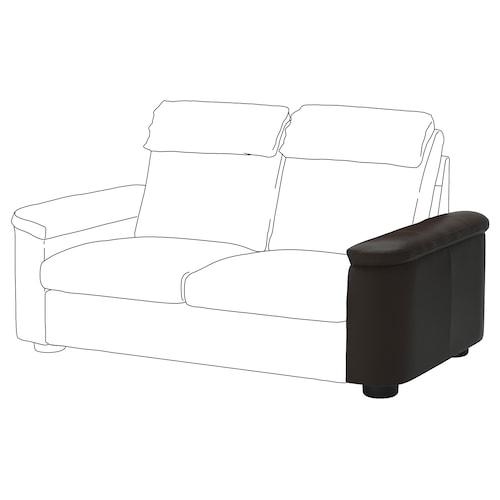 LIDHULT armrest Grann/Bomstad dark brown 62 cm 24 cm 98 cm 55 cm