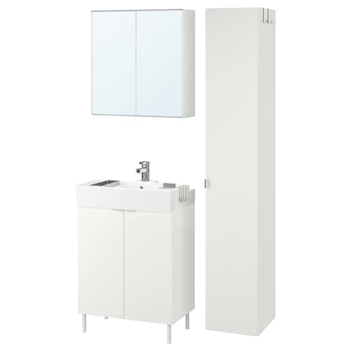 LILLÅNGEN / LILLÅNGEN bathroom furniture, set of 6 white/Ensen tap 61 cm 60 cm 41 cm 89 cm