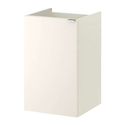 Lill ngen wash basin cabinet with 1 door white ikea for Bathroom cabinets 40cm wide