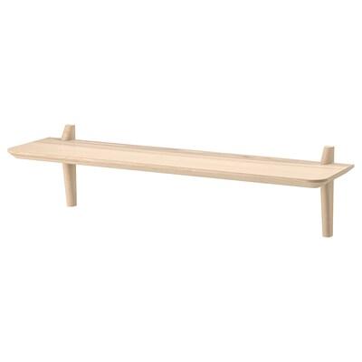 LISABO Wall shelf, ash veneer, 118x30 cm