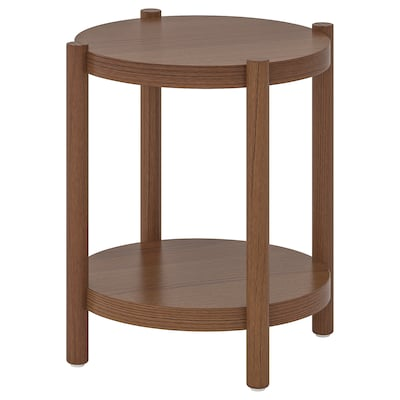 LISTERBY Side table, brown, 50 cm