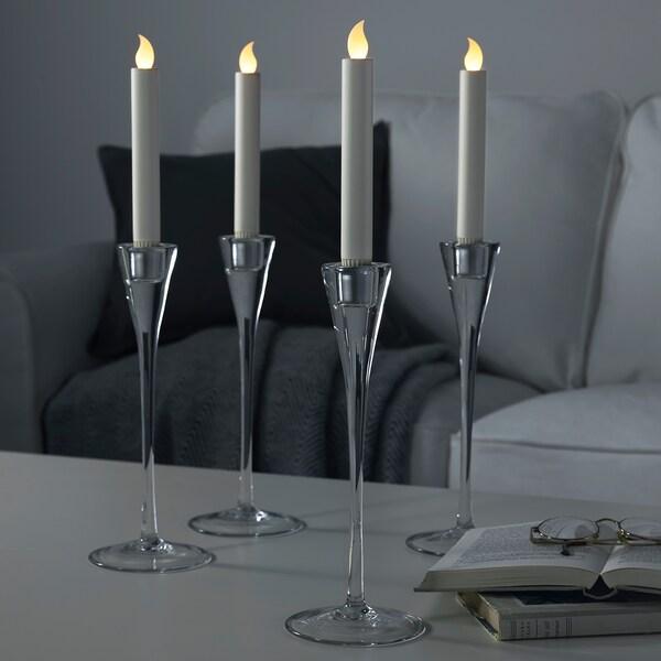 LJUSANDE شمعة LED, يعمل بالبطارية/لون طبيعي, 20 سم