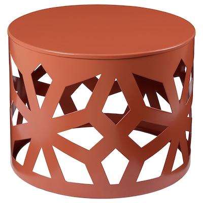 LJUV طاولة قهوة, استدارة/أحمر, 40 سم