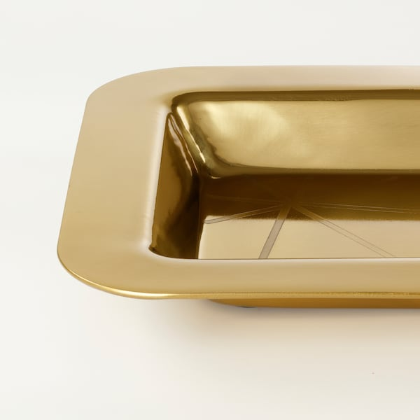 LJUV serving tray rectangular/gold-colour 45 cm 21 cm 3 cm
