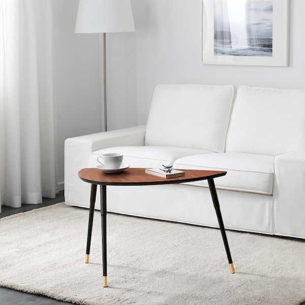 LÖVBACKEN طاولة جانبية, بني معتدل, 77x39 سم