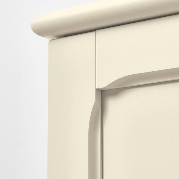 LOMMARP Cabinet with glass doors, light beige, 86x199 cm