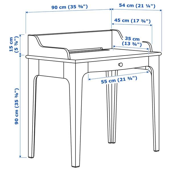 LOMMARP Desk, light beige, 90x54 cm