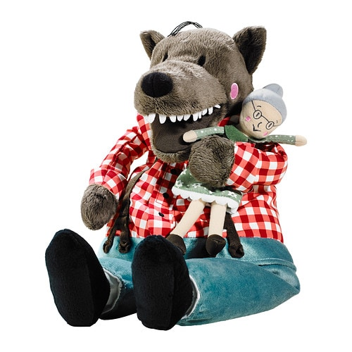 LUFSIG Soft toy   Your child can have fun recreating the fairytale by rescuing the grandmother from the wolf's belly, safe and sound.