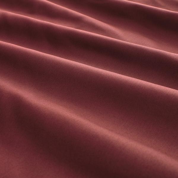 LUKTJASMIN غطاء لحاف/مخدة, أحمر-بني, 150x200/50x80 سم