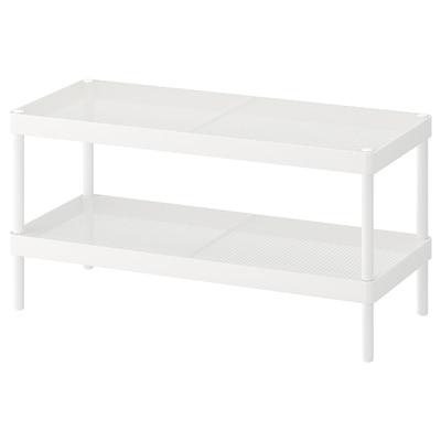 MACKAPÄR Shoe rack, white, 78x32x40 cm