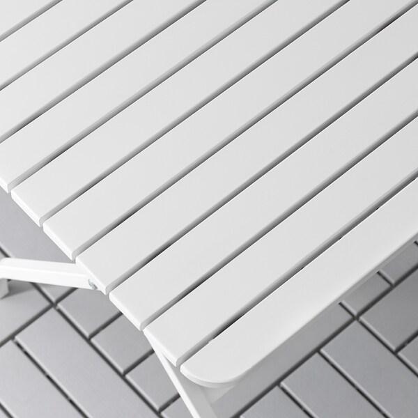 MÄLARÖ Table, outdoor, foldable white, 80x62 cm