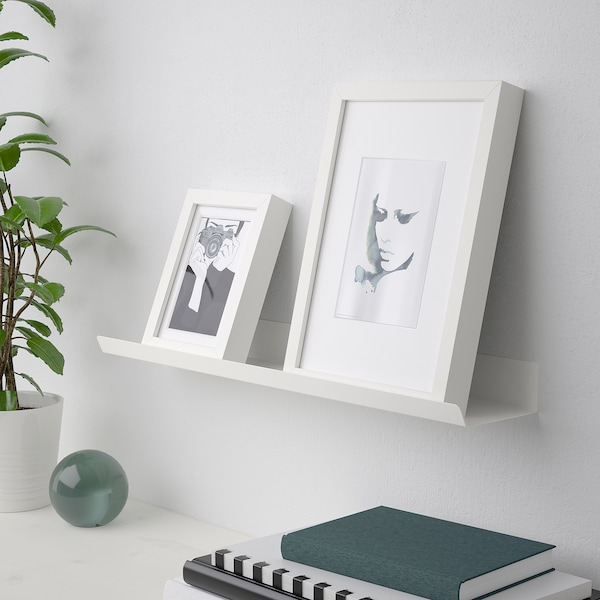 MALMBÄCK Display shelf, white, 60 cm