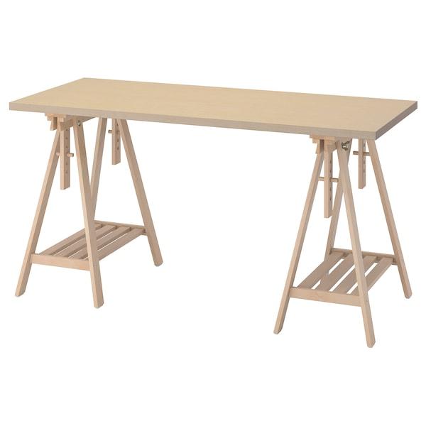 MÅLSKYTT / MITTBACK Desk, birch, 140x60 cm