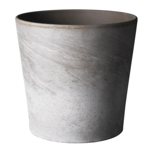 MANDEL Plant pot   Surface-treated interior; makes the plant pot waterproof.