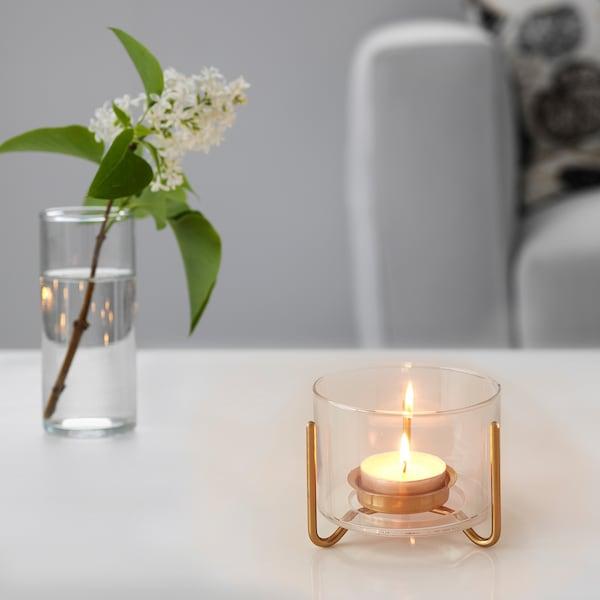 MASKERING حامل شموع صغيرة, زجاج شفاف, 9 سم