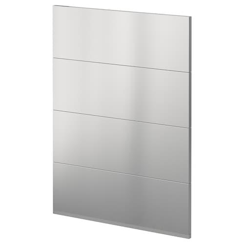 METOD 4 fronts for dishwasher Vårsta stainless steel 60.0 cm 88.0 cm 80.0 cm 1.6 cm