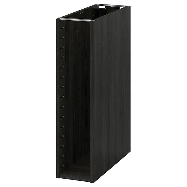 METOD Base cabinet frame, wood effect black, 20x60x80 cm