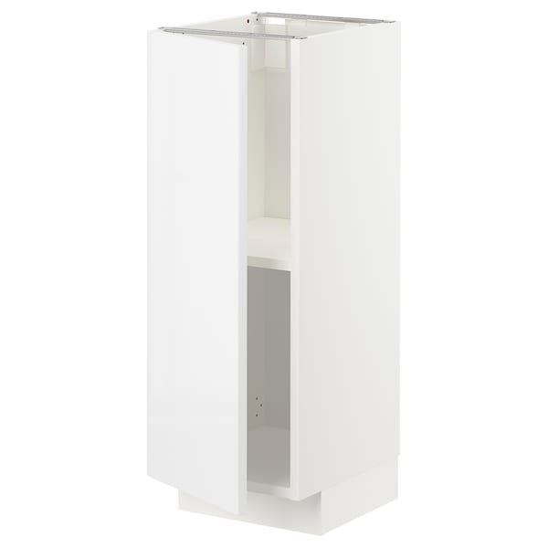 METOD Base cabinet with shelves, white/Ringhult white, 30x37 cm