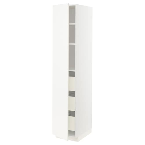 METOD / FÖRVARA high cabinet with drawers white/Veddinge white 40.0 cm 61.6 cm 208.0 cm 60.0 cm 200.0 cm