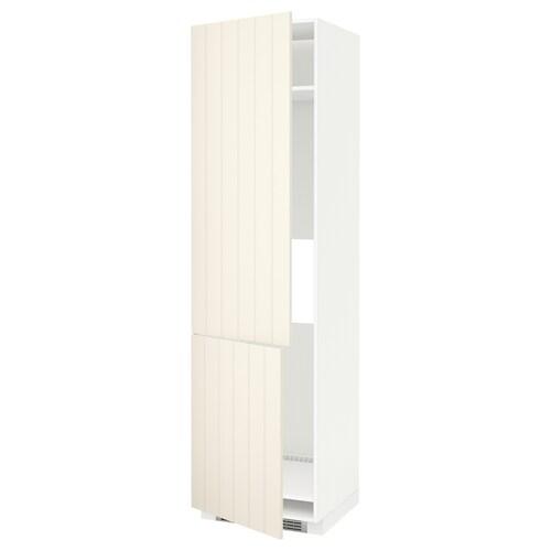 METOD high cab f fridge/freezer w 2 doors white/Hittarp off-white 60.0 cm 61.8 cm 228.0 cm 60.0 cm 220.0 cm