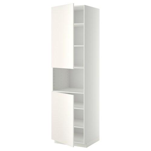 METOD high cab f micro w 2 doors/shelves white/Veddinge white 60.0 cm 61.6 cm 228.0 cm 60.0 cm 220.0 cm