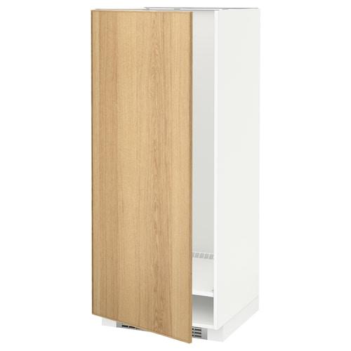 METOD high cabinet for fridge/freezer white/Ekestad oak 60.0 cm 61.9 cm 148.0 cm 60.0 cm 140.0 cm