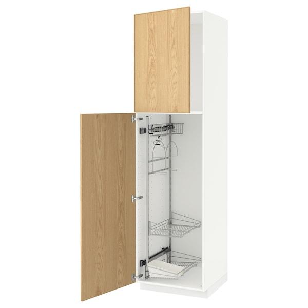 METOD high cabinet with cleaning interior white/Ekestad oak 60.0 cm 61.9 cm 228.0 cm 60.0 cm 220.0 cm
