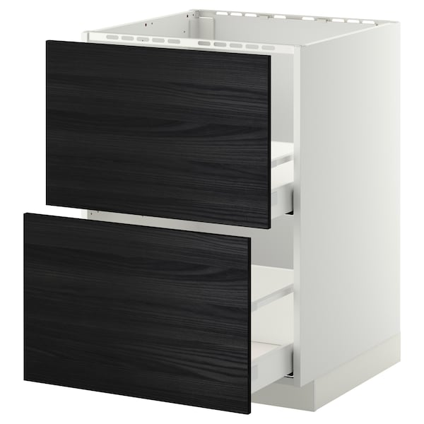 METOD / MAXIMERA base cab f sink+2 fronts/2 drawers white/Tingsryd black 60.0 cm 61.6 cm 88.0 cm 60.0 cm 80.0 cm