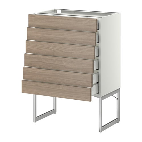 Metod Maximera Base Cabinet 6 Fronts 6 Low Drawers