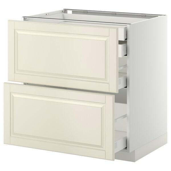 METOD / MAXIMERA Base cb 2 frnts/2 low/1 md/1 hi drw, white/Bodbyn off-white, 80x60 cm