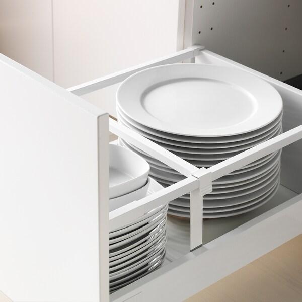 METOD / MAXIMERA Base cb 2 fronts/2 high drawers, black/Edserum brown, 40x60 cm