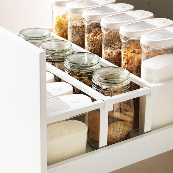 METOD / MAXIMERA Base cb 2 fronts/2 high drawers, white/Edserum brown, 60x60 cm