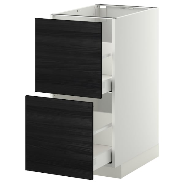 METOD / MAXIMERA base cb 2 fronts/2 high drawers white/Tingsryd black 40.0 cm 61.6 cm 88.0 cm 60.0 cm 80.0 cm