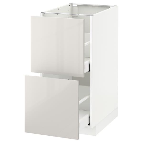 METOD / MAXIMERA base cb 2 fronts/2 high drawers white/Ringhult light grey 40.0 cm 61.8 cm 88.0 cm 60.0 cm 80.0 cm