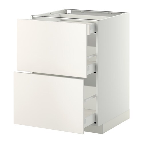 METOD/MAXIMERA Base cb 2 frnts/2 low/1 md/1 hi drw   The drawers close slowly, quietly and softly thanks to the built-in dampers.