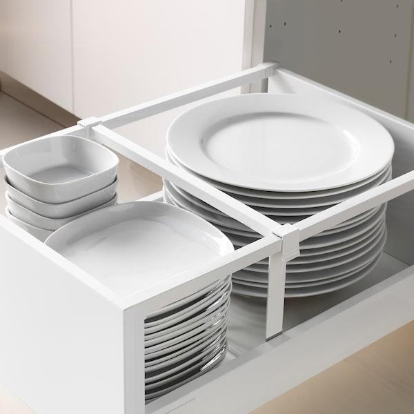 METOD / MAXIMERA خزانة عالية بأدراج, أبيض/Bodbyn رمادي, 40x60x200 سم