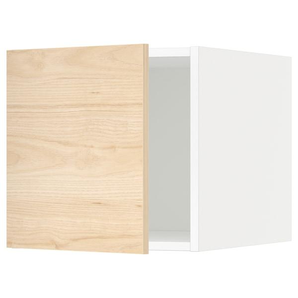METOD Top cabinet, white/Askersund light ash effect, 40x40 cm