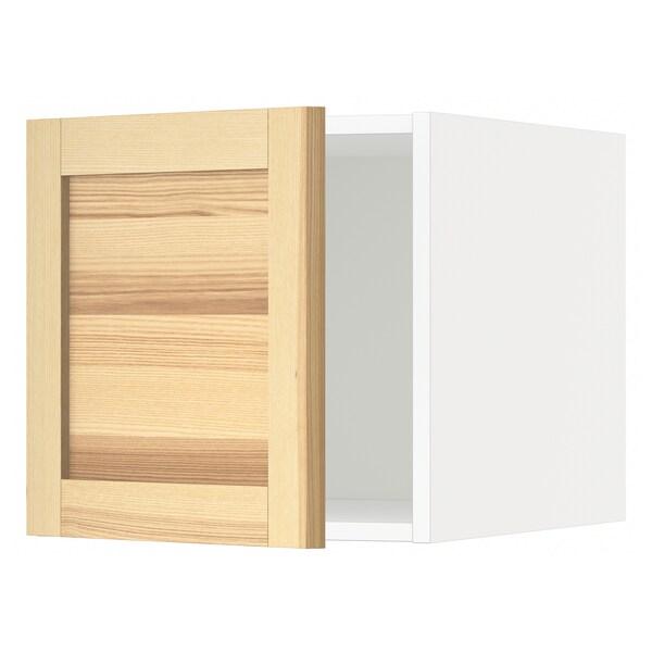 METOD Top cabinet, white/Torhamn ash, 40x40 cm